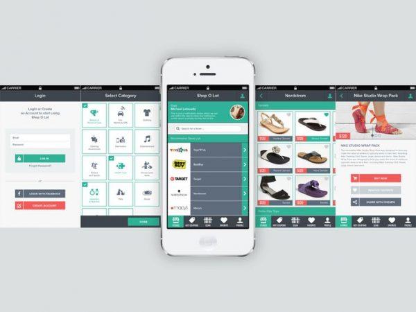 تصميم تطبيق بيع منتجات